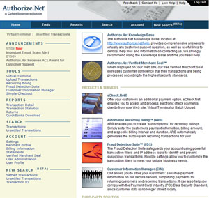 Authorize.net home page