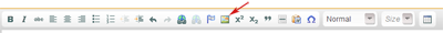 image button on toolbar