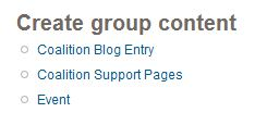 Create group content