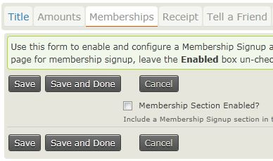 enable memberships