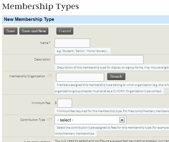 new membership type